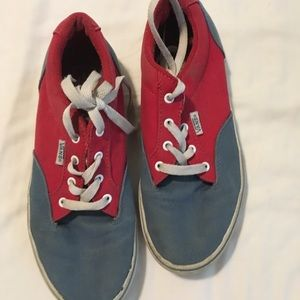 Boys Vans Blue and Red shoes